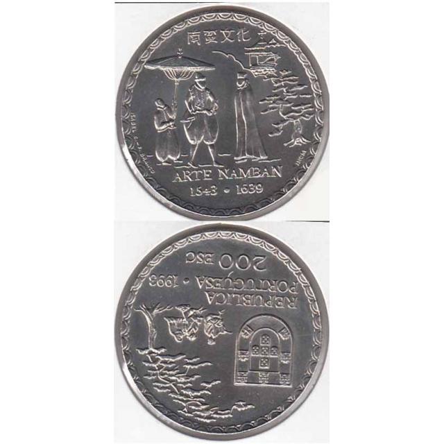 "200$00 CUPRO-NÍQUEL 1993 ""ARTE NAMBAN"" (BELA/SOB)"