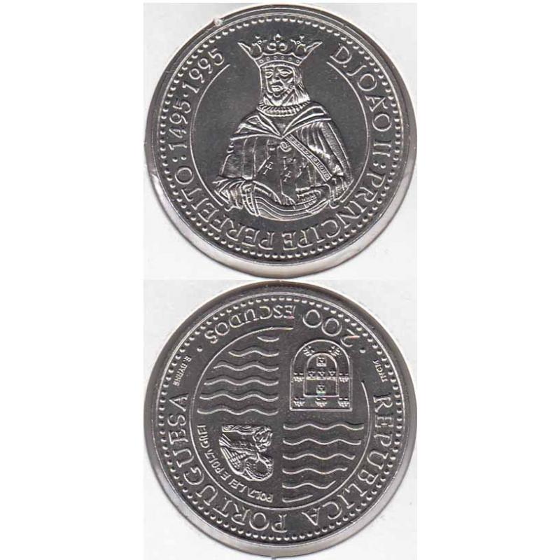 200 Escudos Cupro-níquel 1994 D.João II (moeda 200$00 D. João II)