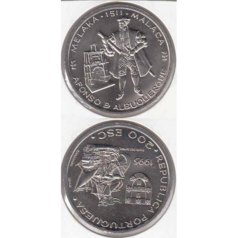 200$00 Cupro-níquel 1995 Malaca (moeda 200$00 Malaca)