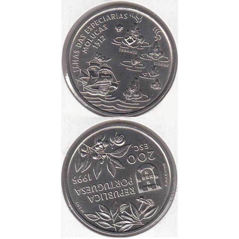 200 Escudos Cupro-níquel 1995 Ilhas Molucas (moeda 200$00 Molucas)