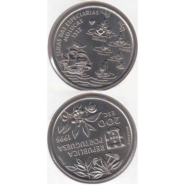 "200$00 CUPRO-NÍQUEL 1995 ""ILHAS MOLUCAS"" (BELA/SOB)"