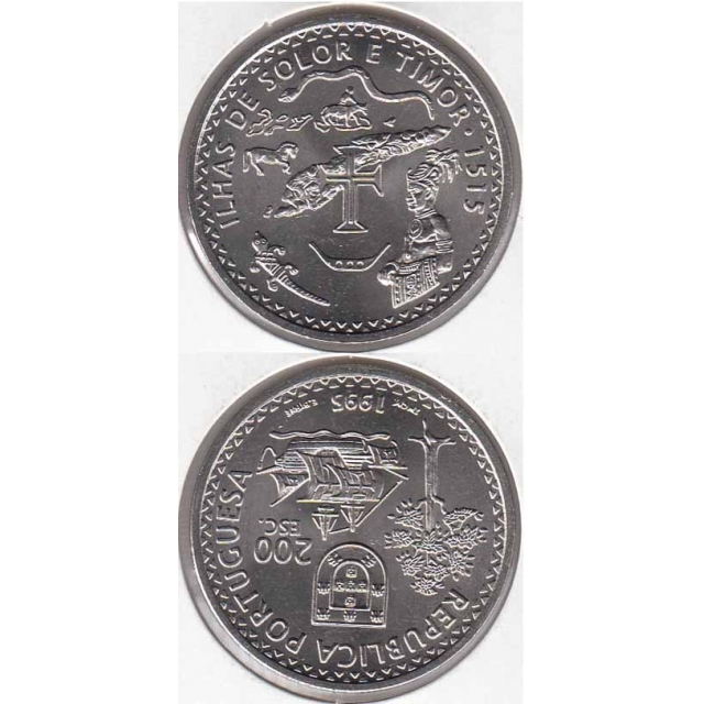"200$00 CUPRO-NÍQUEL 1995 ""ILHAS SOLOR E TIMOR"" (BELA/SOB)"
