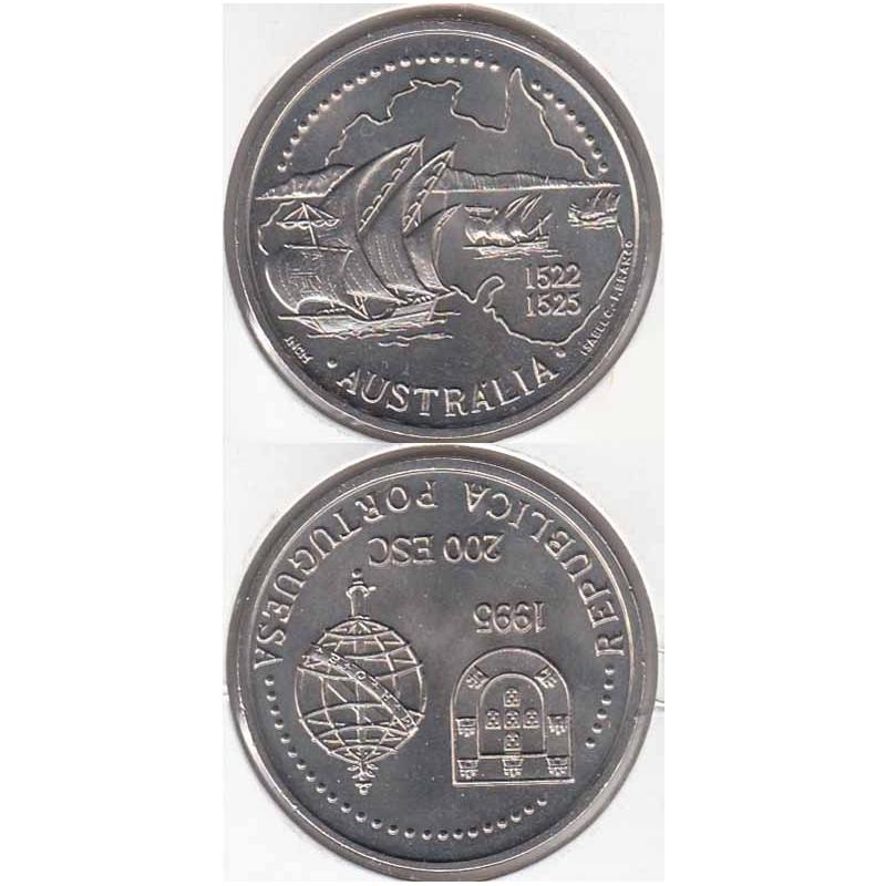 200 Escudos cupro-níquel 1995 Austrália (moeda 200$00 Austrália)