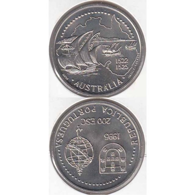 """200$00 CUPRO-NÍQUEL 1995 """" AUSTRÁLIA"""" (BELA/SOB)"""