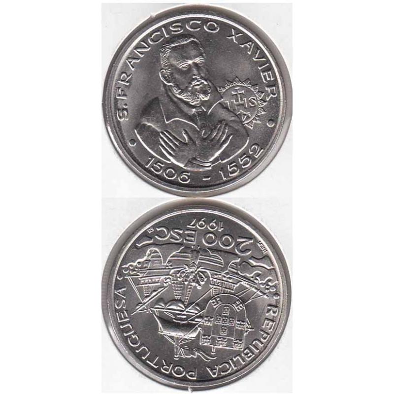 200 Escudos cupro-níquel 1997 S. Francisco Xavier (moeda S. Francisco Xavier)