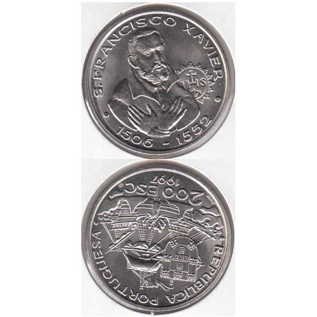 "200$00 CUPRO-NÍQUEL 1997 ""S. FRANCISCO XAVIER"" (BELA/SOB)"