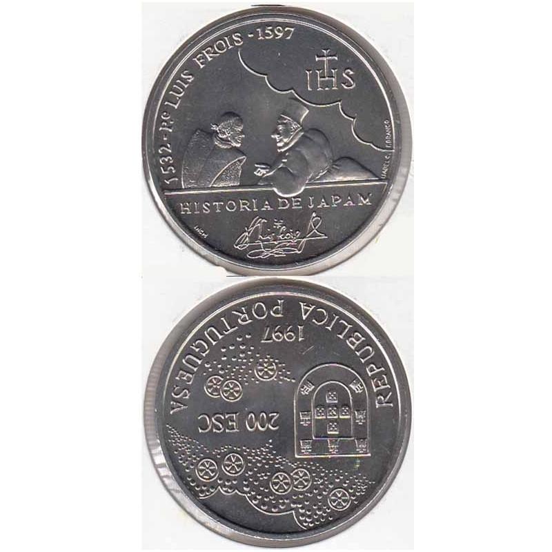 200 Escudos cupro-níquel 1997 Padre Luís Fróis (moeda 200$00 Padre Luís Fróis)