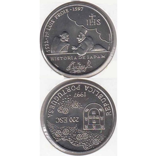 """200$00 CUPRO-NÍQUEL 1997 """"PADRE LUÍS FRÓIS"""" (BELA/SOB)"""