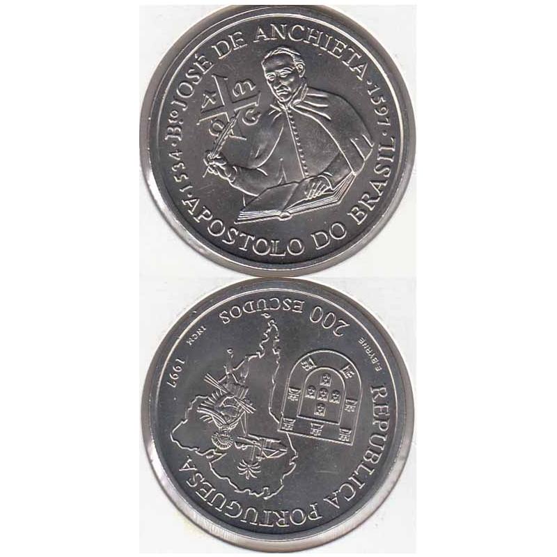 "200$00 CUPRO-NÍQUEL 1997 ""BT.ºJOSÉ ANCHIETA"" (BELA/SOB)"