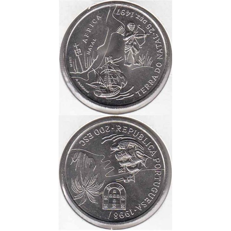 200 Escudos cupro-níquel 1998 Terra do Natal (moeda 200$00 Terra do Natal)