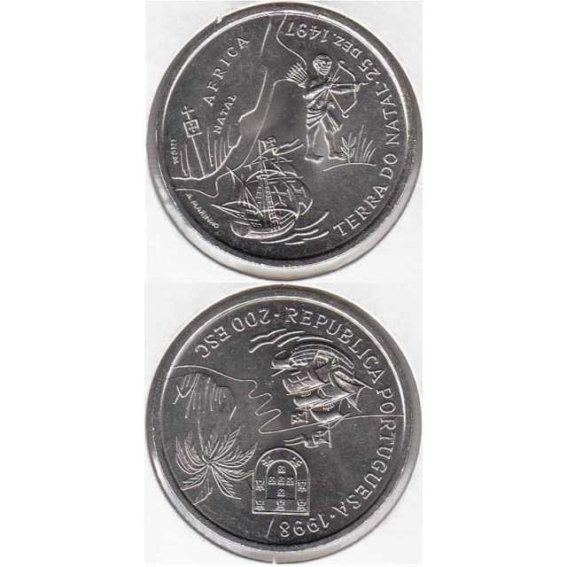"200$00 CUPRO-NÍQUEL 1998 ""TERRA DO NATAL"" (BELA/SOB)"