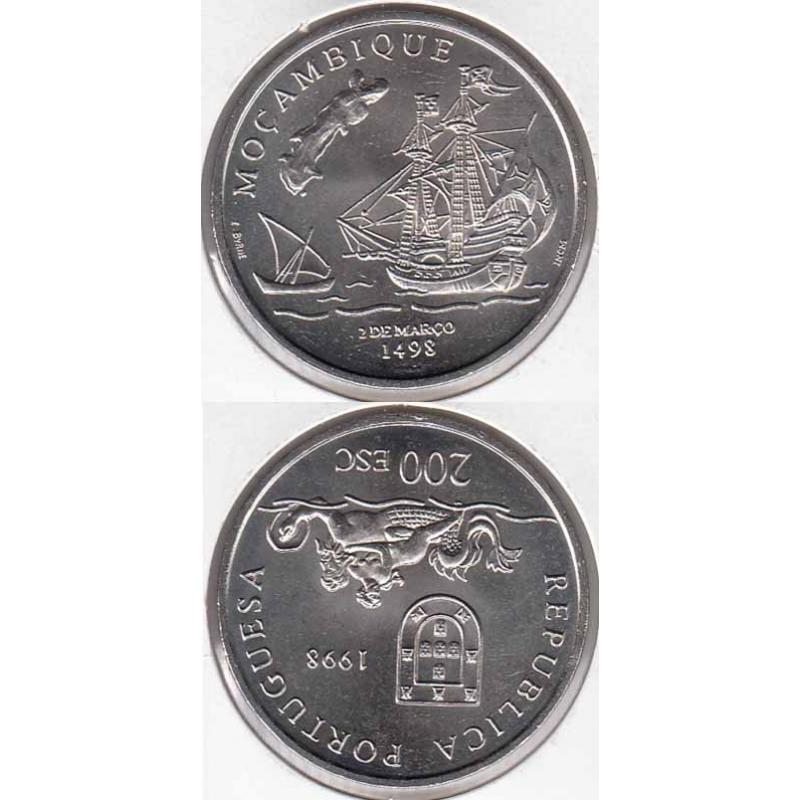 200 Escudos Cupro-níquel 1998 Moçambique (moeda 200$00 Moçambique)