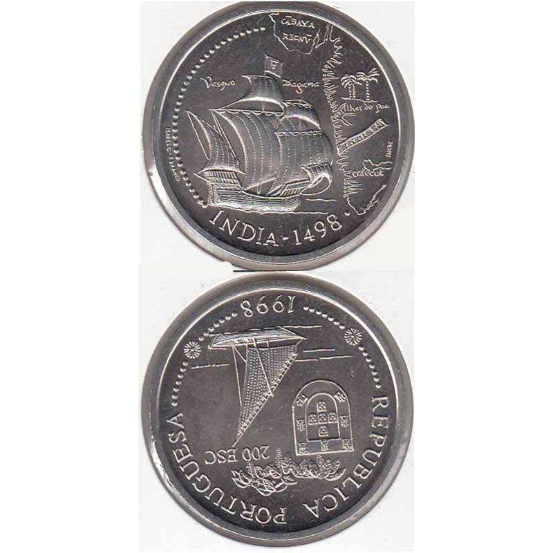 "200$00 CUPRO-NÍQUEL 1998 ""INDIA"" (BELA/SOB)"