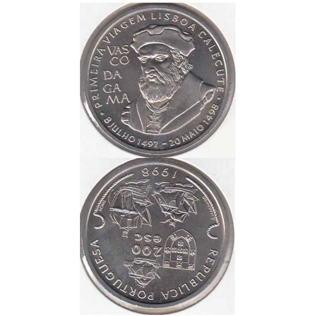 "200$00 CUPRO-NÍQUEL 1998 ""VASCO DA GAMA"" (BELA/SOB)"