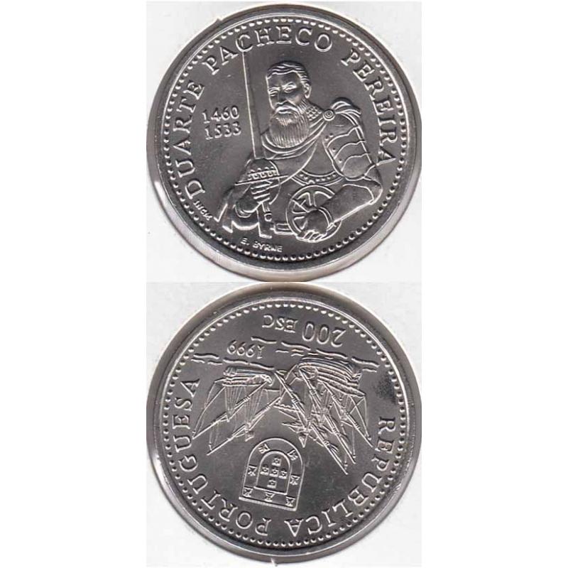 """200$00 CUPRO-NÍQUEL 1999 """"DUARTE PACHECO PEREIRA"""" (BELA/SOB)"""
