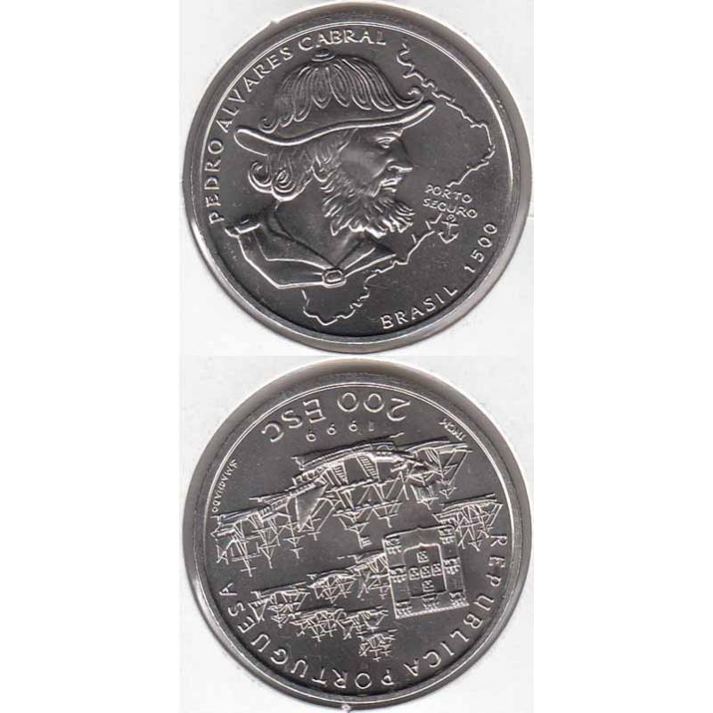 """200$00 CUPRO-NÍQUEL 1999 """"PEDRO ALVARES CABRAL"""" (BELA/SOB)"""