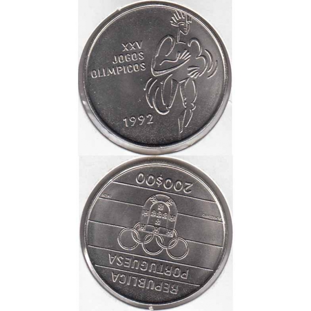 "200$00 CUPRO-NÍQUEL 1992 ""XXV JOGOS OLIMPICOS"" (BELA/SOB)"