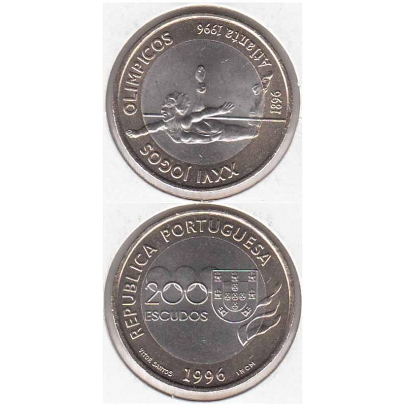 200 Escudos 1996 XXVI Jogos Olímpicos Atlanta (moeda XXVI Jogos Olímpicos Atlanta)