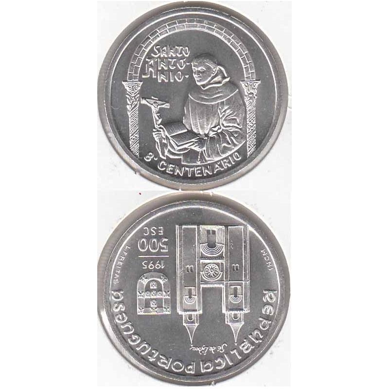 """500$00 PRATA 1995 """"S. ANTÓNIO"""" (BELA/SOB)"""