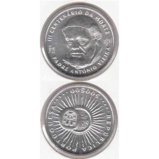 """500$00 PRATA 1997 """"PADRE ANTÓNIO VIEIRA"""" (BELA/SOB)"""