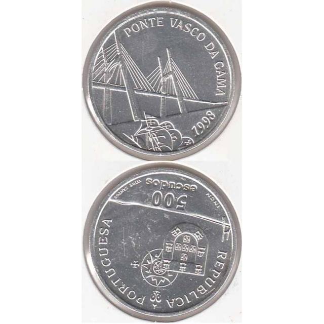 "500$00 PRATA 1998 ""PONTE VASCO DA GAMA"" (BELA/SOB)"