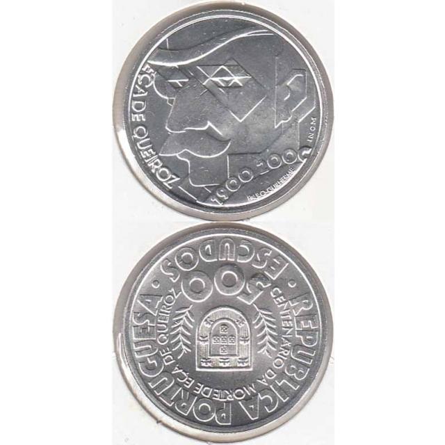"""500$00 PRATA 2000 """"EÇA DE QUEIROZ"""" (BELA/SOB)"""