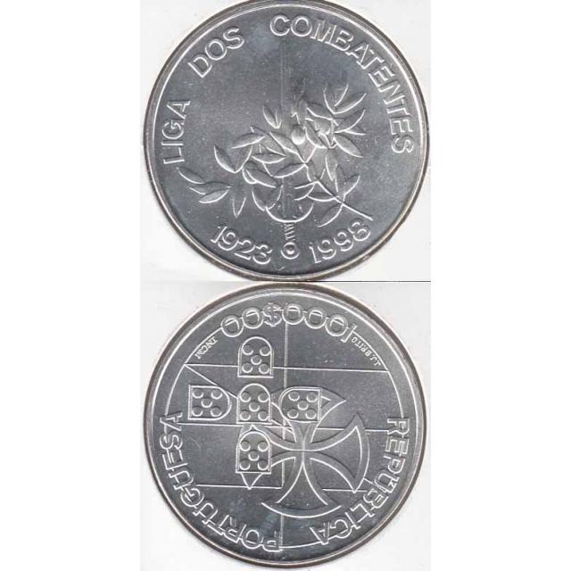 """1000$00 PRATA 1998 """"LIGA DOS COMBATENTES"""" (BELA/SOB)"""