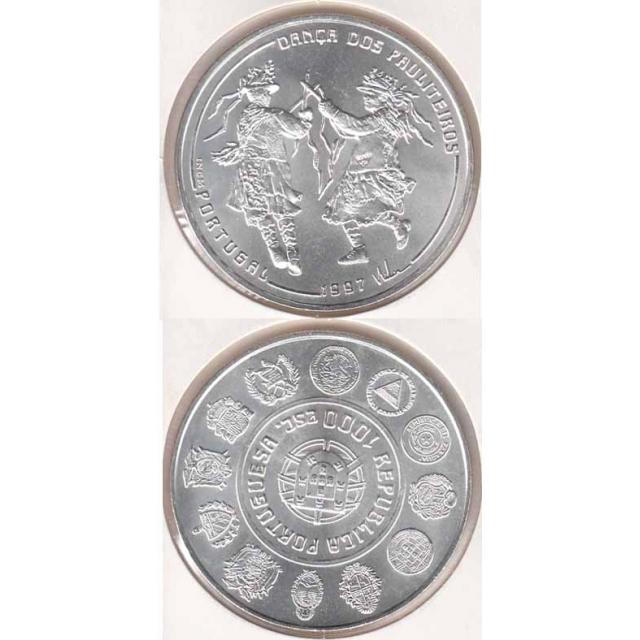 """1000$00 PRATA 1997 """"DANÇA PAULITEIROS"""" (BELA/SOB)"""
