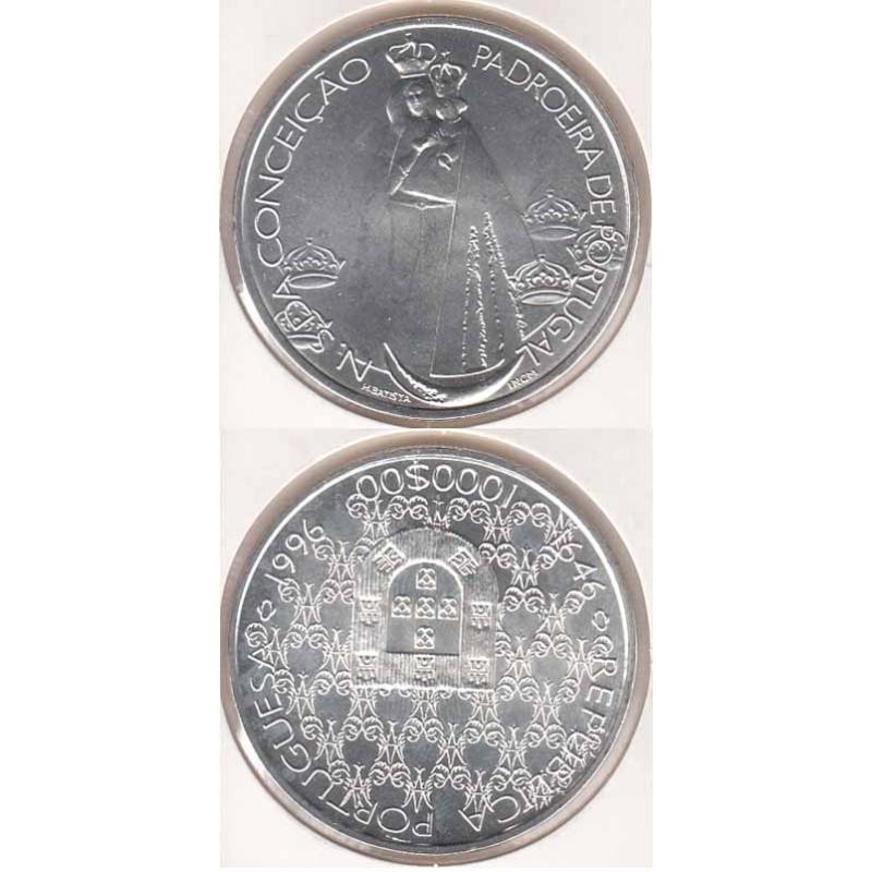 1000 Escudos Prata 1996 NSª Conceição (moeda 1000$00 NSª da Conceição)
