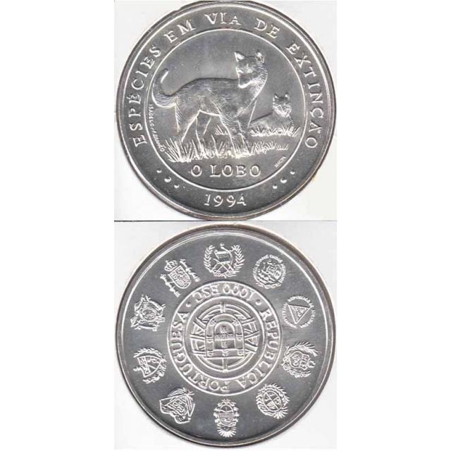 "1000$00 PRATA 1994 ""O LOBO"" (BELA/SOB)"