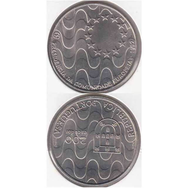 "200$00 CUPRO-NÍQUEL 1992 ""PRESIDENCIA COMUNIDADE EUR0PEIA"" (BELA/SOB)"