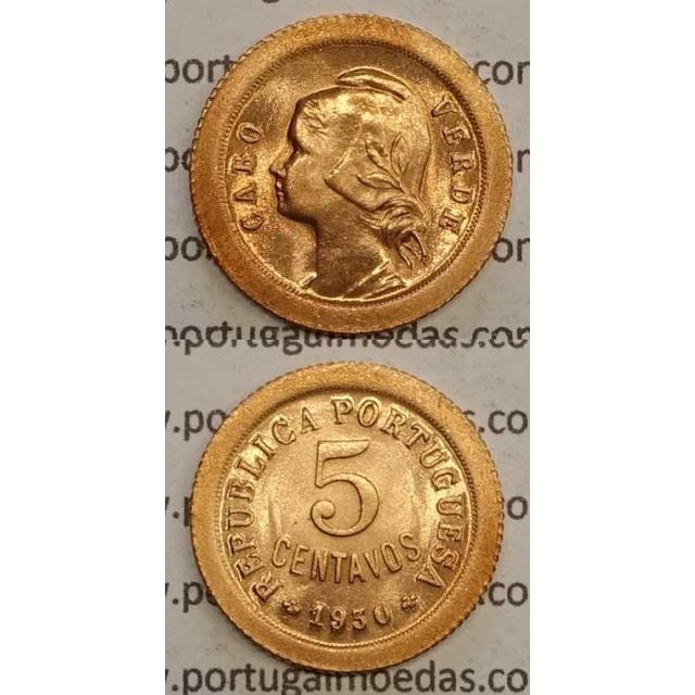5 CENTAVOS BRONZE 1930 (SOB) - CABO VERDE