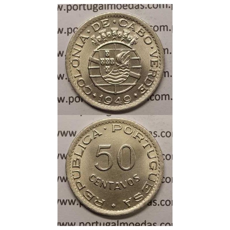 50 CENTAVOS ALPACA 1949 (BELA/SOB) - CABO VERDE