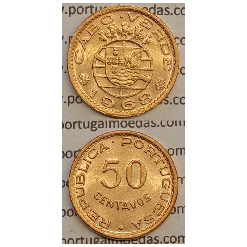 50 CENTAVOS BRONZE 1968 (SOB) - CABO VERDE