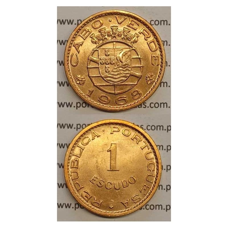1$00 BRONZE 1968 (SOB) CABO VERDE