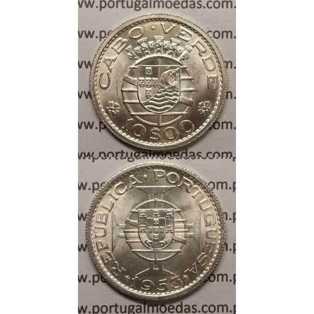 10$00 PRATA 1953 (SOB) - CABO VERDE