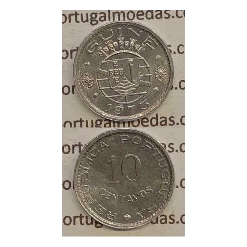 GUINÉ - 10 CENTAVOS ALUMÍNIO 1973 (BELA)