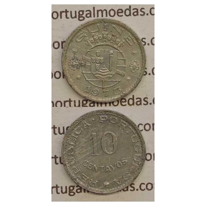 GUINÉ - 10 CENTAVOS ALUMÍNIO 1973 (BC+)