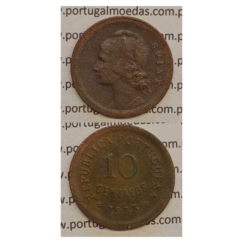 GUINÉ - 10 CENTAVOS BRONZE 1933 (MBC-)