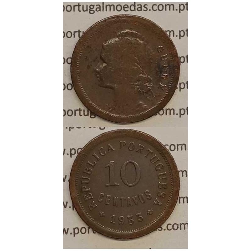 GUINÉ - 10 CENTAVOS BRONZE 1933 (BC)