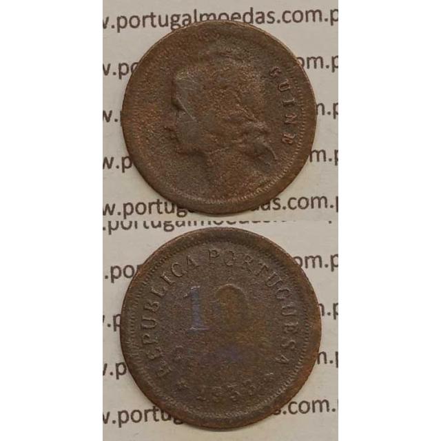 GUINÉ - 10 CENTAVOS BRONZE 1933 (BC-)