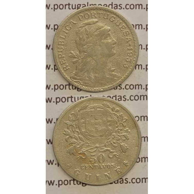 GUINÉ - 50 CENTAVOS ALPACA 1933 (BC)