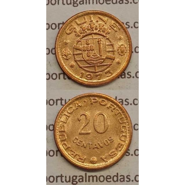 GUINÉ - 20 CENTAVOS BRONZE 1973 (BELA)