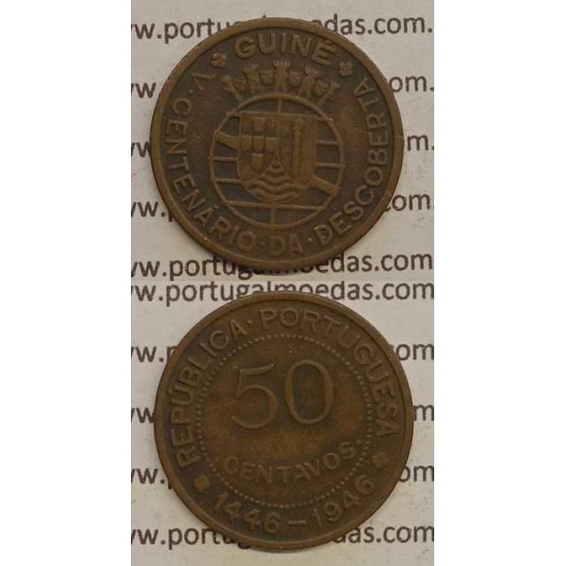 GUINÉ - 50 CENTAVOS BRONZE 1946 (MBC)