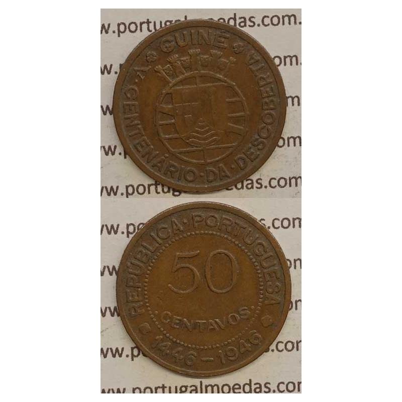 GUINÉ - 50 CENTAVOS BRONZE 1946 (MBC-)