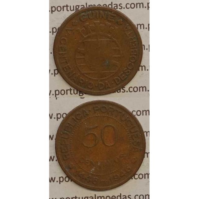 GUINÉ - 50 CENTAVOS BRONZE 1946 (BC)