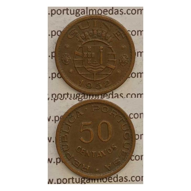 GUINÉ - 50 CENTAVOS BRONZE 1952 (MBC+/BELA-)