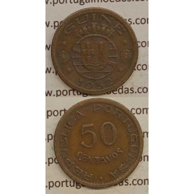 GUINÉ - 50 CENTAVOS BRONZE 1952 (BC)