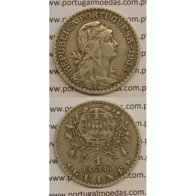 GUINÉ - 1$00 ALPACA 1933 (MBC+/BELA-)