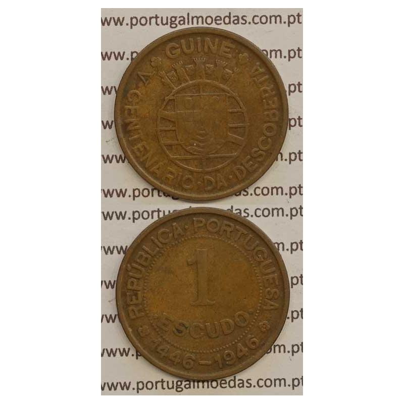 GUINÉ - 1$00 BRONZE 1946 (BC+)